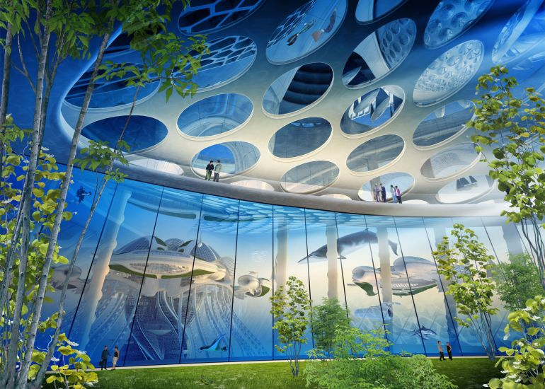 Architect Envisions Future Underwater City Built From 3D-Printed Waste-11