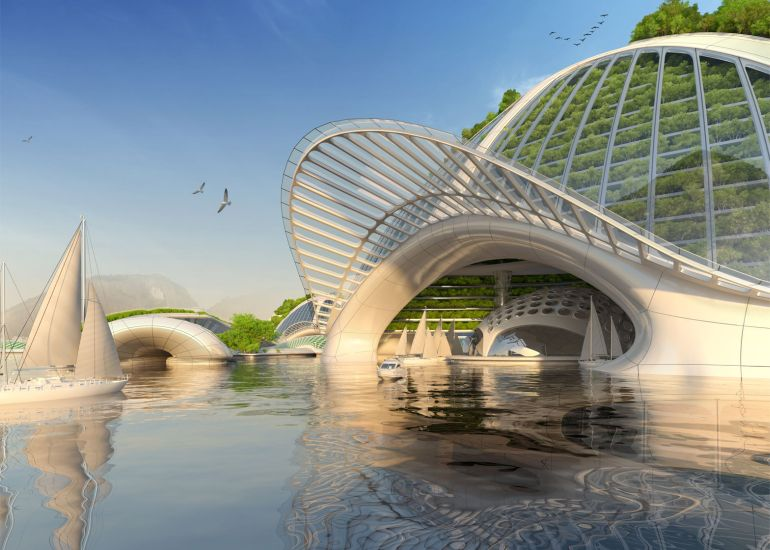 Architect Envisions Future Underwater City Built From 3D-Printed Waste-15