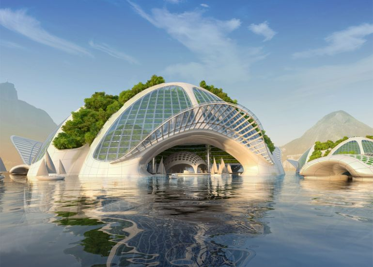 Architect Envisions Future Underwater City Built From 3D-Printed Waste-16