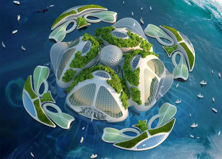 Architect Envisions Future Underwater City Built From 3D-Printed Waste-3