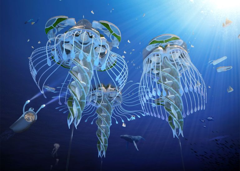 Architect Envisions Future Underwater City Built From 3D-Printed Waste-5