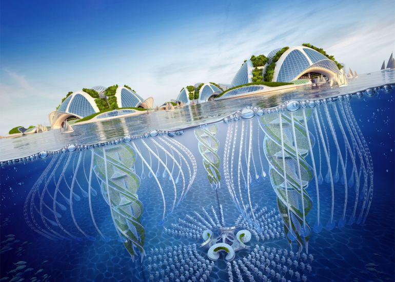 Architect Envisions Future Underwater City Built From 3D-Printed Waste-6