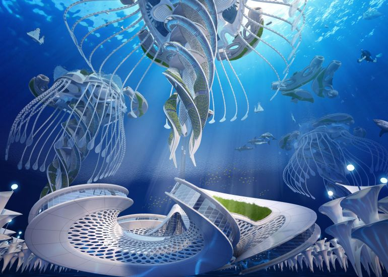 Architect Envisions Future Underwater City Built From 3D-Printed Waste-7