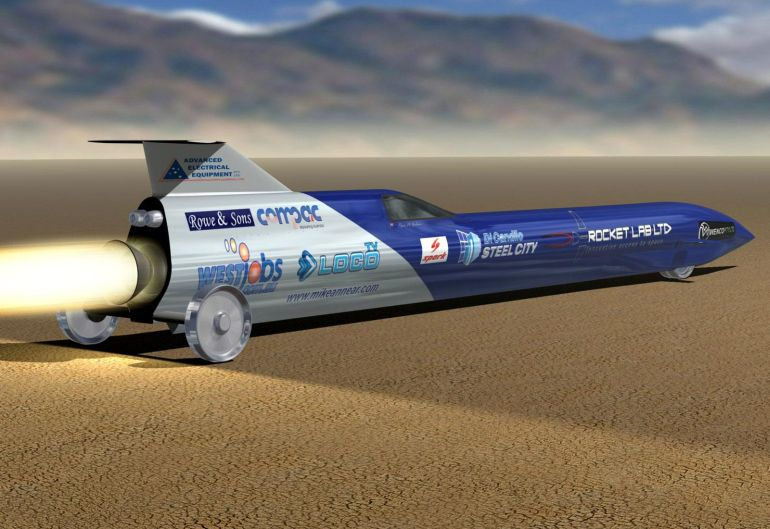 Australia Aims To Set Land Speed Record With This Rocket-Powered Car-2