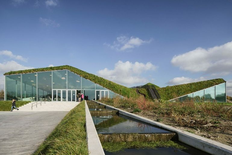 Biesbosch Museum Refurbished Into A Modern Hobbit House-6