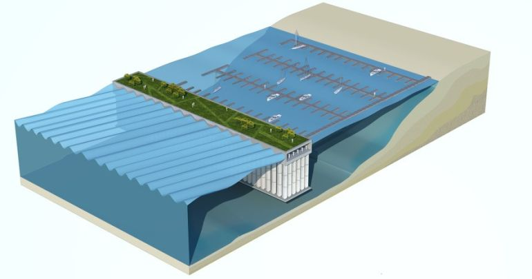 Netherlands Firm Designs Floating Sea Wall That Harvests Wave Power-4