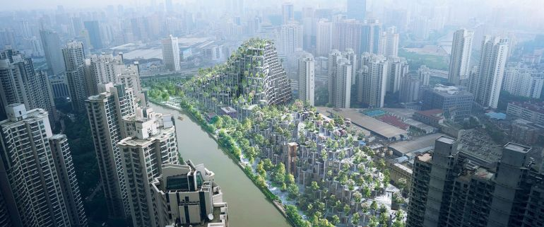 Shanghai To Get A Stunning Tree-Covered Mountain In M50-1