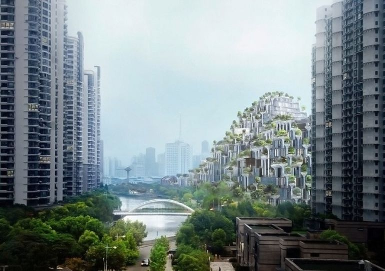 Shanghai To Get A Stunning Tree-Covered Mountain In M50-3