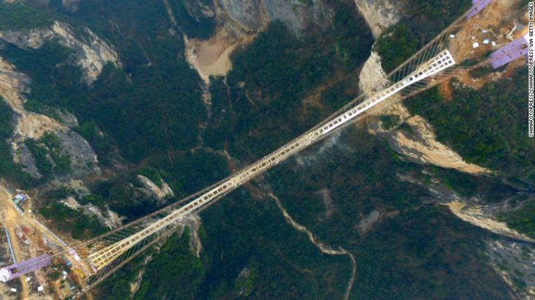 China Is Gearing Up To Unveil World's Longest Glass-Bottomed Bridge-2