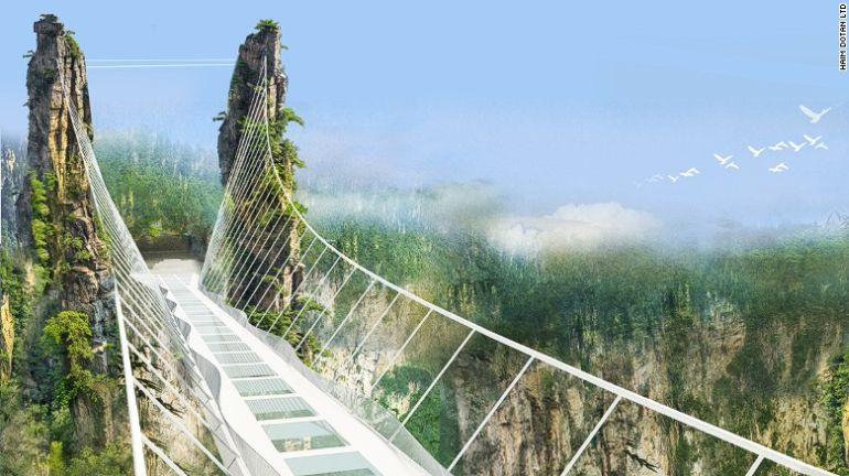 China Is Gearing Up To Unveil World's Longest Glass-Bottomed Bridge-5