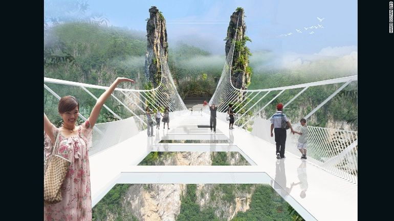 China Is Gearing Up To Unveil World's Longest Glass-Bottomed Bridge-6