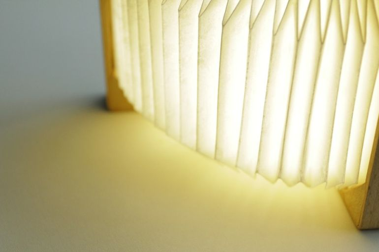 This Stunning, Bluetooth-Enabled Lamp Folds Like An Accordion-1
