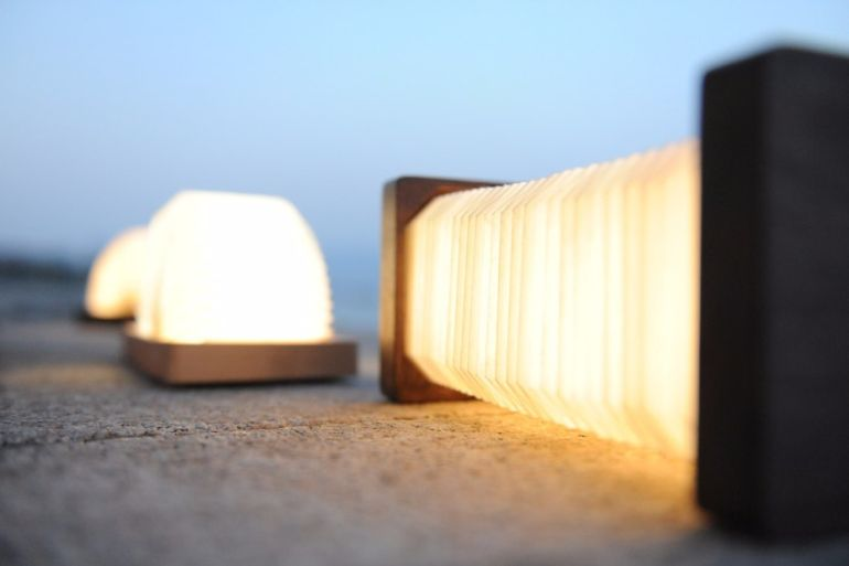 This Stunning, Bluetooth-Enabled Lamp Folds Like An Accordion-7