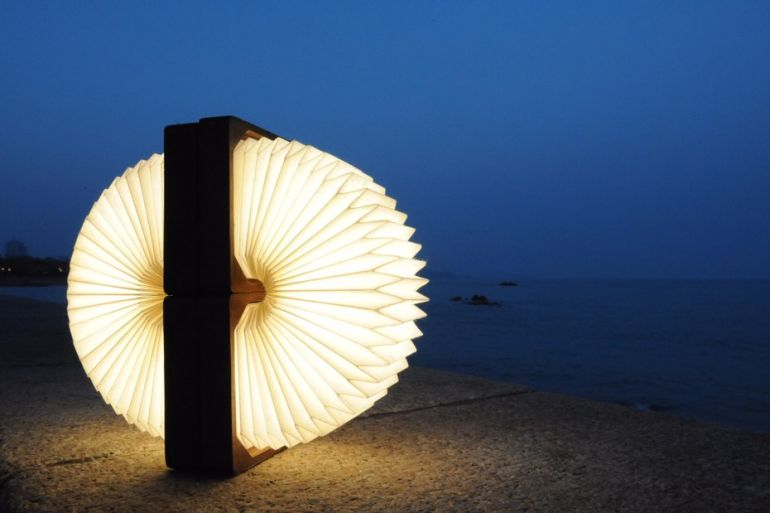 This Stunning, Bluetooth-Enabled Lamp Folds Like An Accordion-8