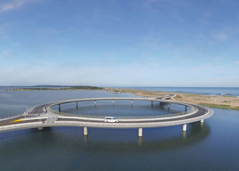 Uruguay's Laguna Garzon Bridge Boasts A Unique Ring-Shaped Design-3
