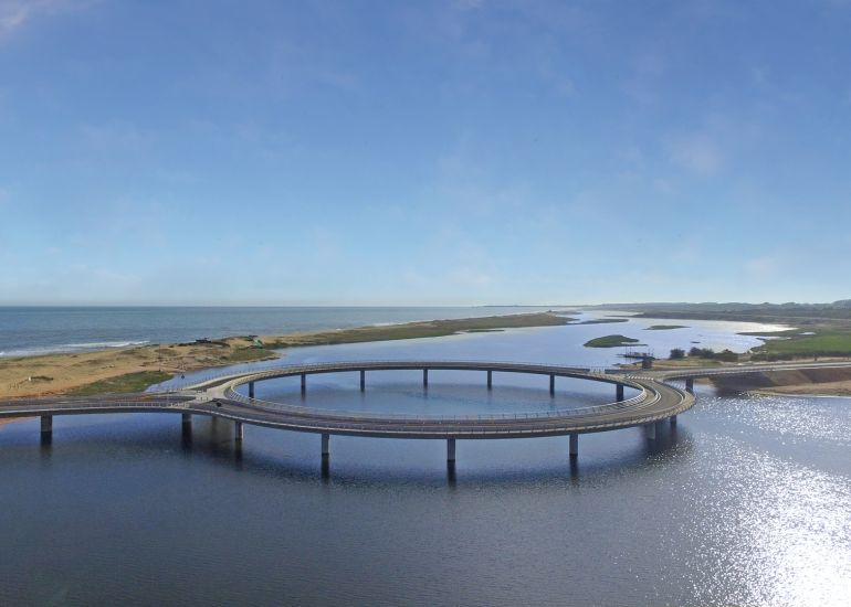 Uruguay's Laguna Garzon Bridge Boasts A Unique Ring-Shaped Design-4
