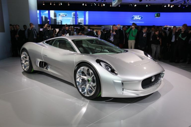 Jaguar C-X75 as showcased at the 2010 Paris Motor Show