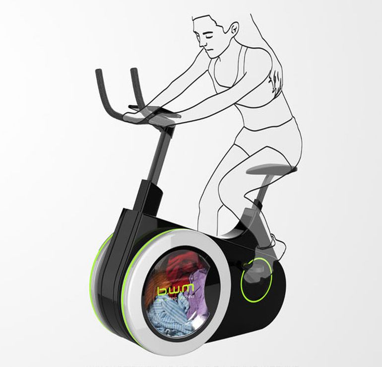 Ingenious Stationary Bike Doubles As A Human-Powered Washing Machine-1
