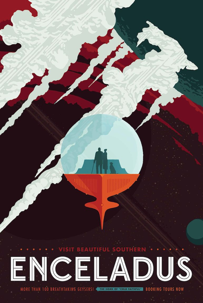NASA's Retro Travel Posters Depict Future Where Space Travel Is Common-11