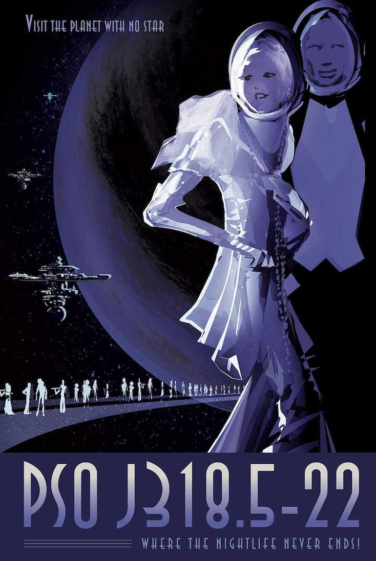 NASA's Retro Travel Posters Depict Future Where Space Travel Is Common-6
