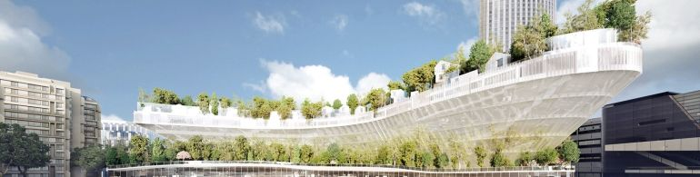 Paris To Get Tree-Topped Residential Complex That Looks Like A Ship-1