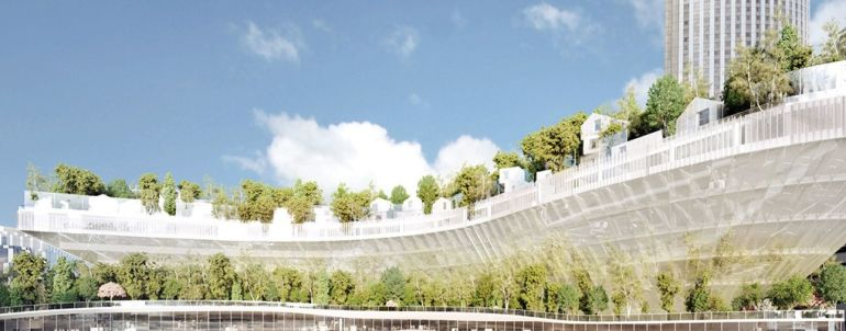 Paris To Get Tree-Topped Residential Complex That Looks Like A Ship-2