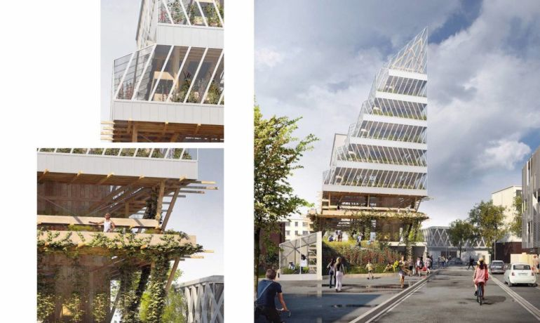 Self-Sufficient Ziggurat-Like Tower To Bring Vertical Farming To Paris-8