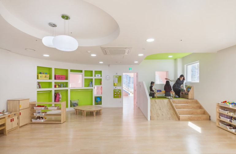 South Korea's Flower Kindergarten Boasts Brilliantly Playful Interiors-11