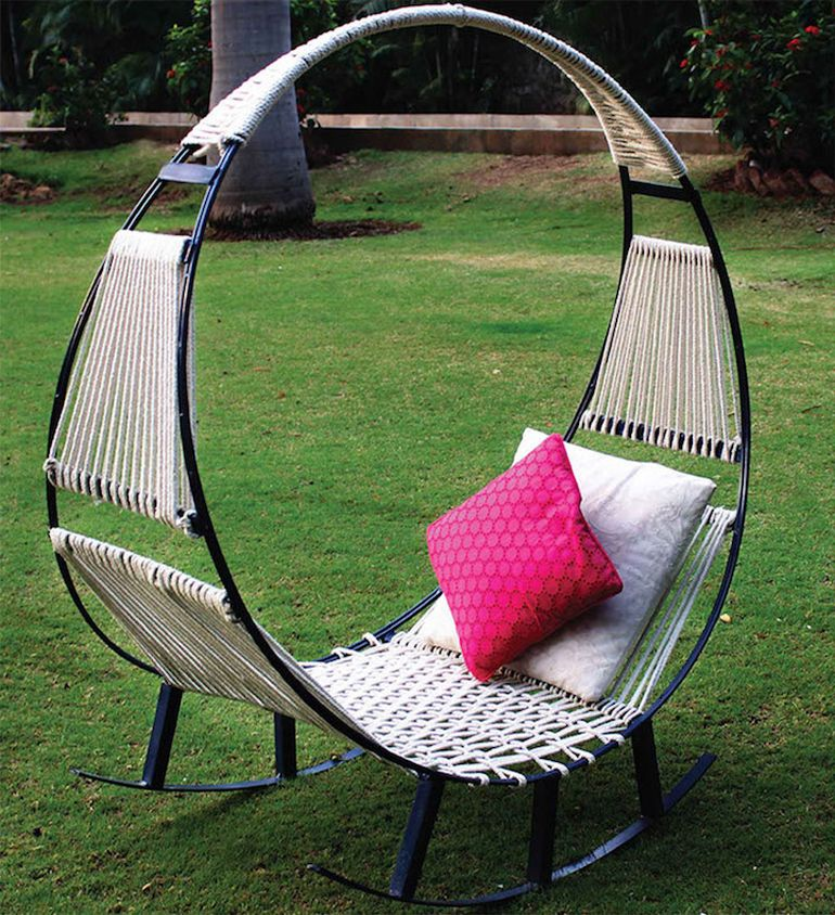 Student Designers Create Ingenious Hammock-Rocking Chair Hybrid-1