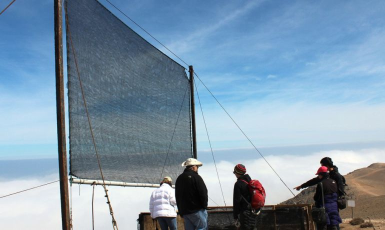 World's Largest Fog Harvester Installed In Moroccan Desert-1