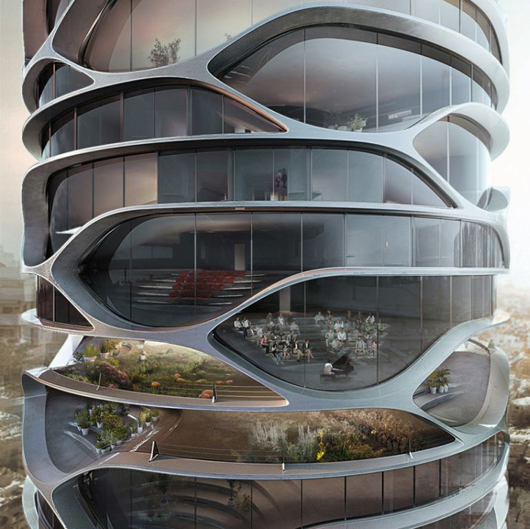 Architect Envisions Spectacular Cellular Skyscraper For Tel Aviv-5