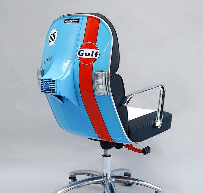 Designers At Bel & Bel Upcycle Vintage Vespas Into Trendy Chairs-1