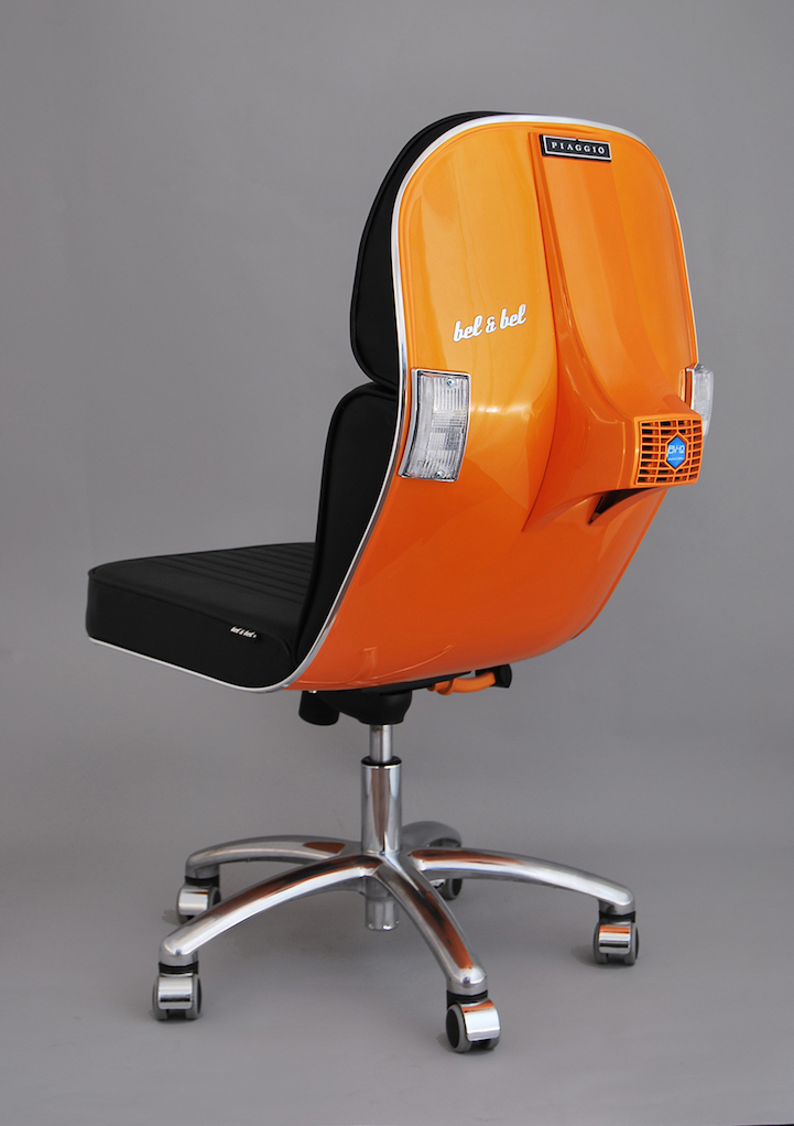 Designers At Bel & Bel Upcycle Vintage Vespas Into Trendy Chairs-11