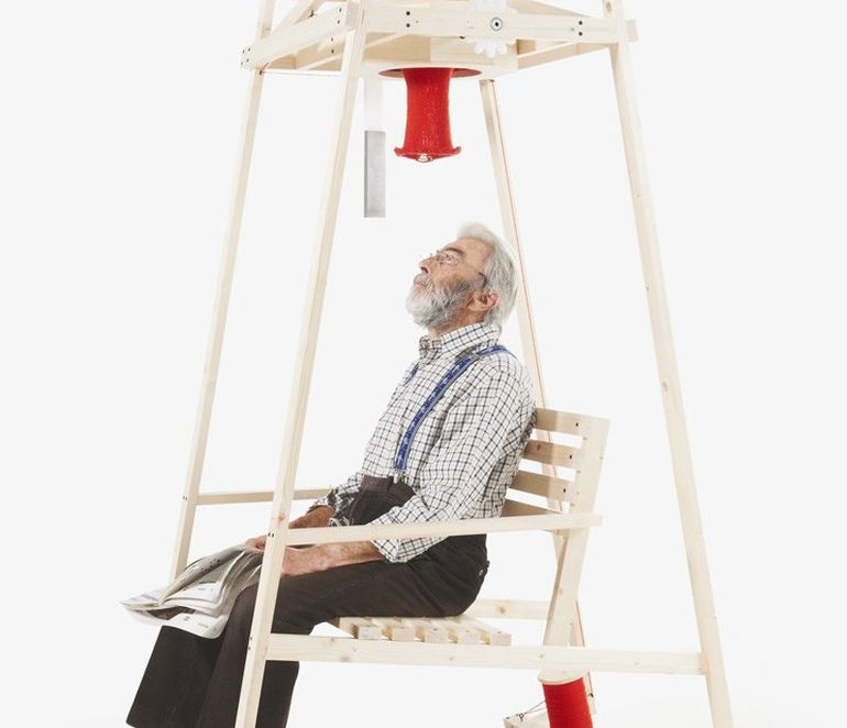 Ingeniously-Designed Rocking Chair Knits A Hat As You Gently Sway-2