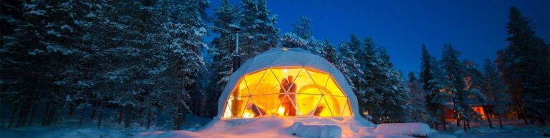Stunning Geodesic Cabins OfferEnchanting Views of Northern Lights-1