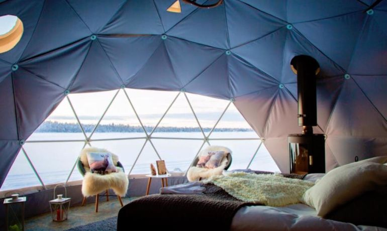 Stunning Geodesic Cabins OfferEnchanting Views of Northern Lights-3