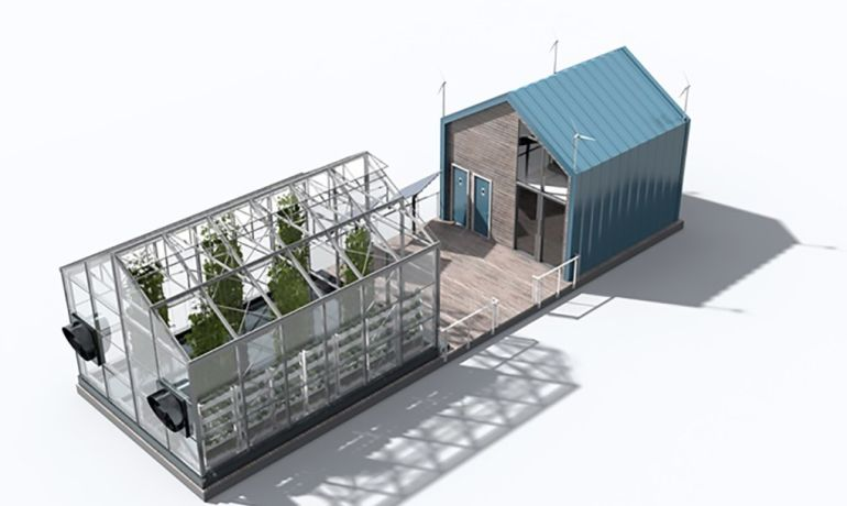 Eco barge floating greenhouse produces clean energy and food for Cuisine urban dictionary