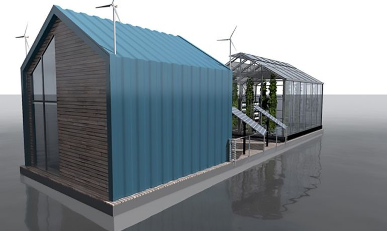Eco Barge Floating Greenhouse Produces Clean Energy And Food-5