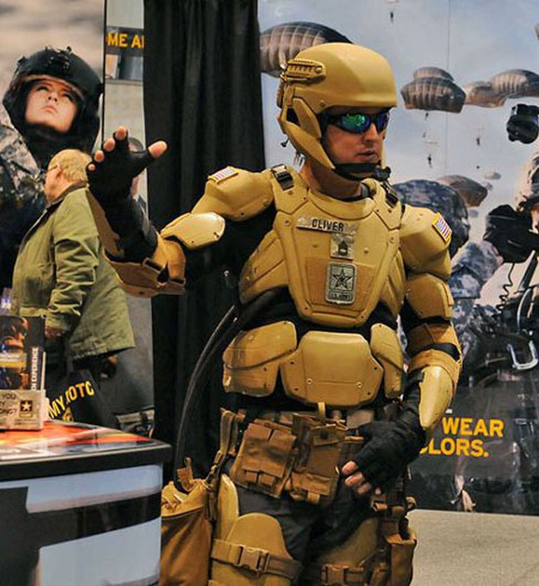Iron Man-Inspired Combat Exoskeleton Features Liquid Armor-1