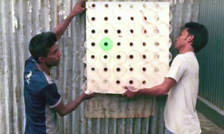 This Amazing No-Electricity Air Conditioner From Plastic Bottles-3