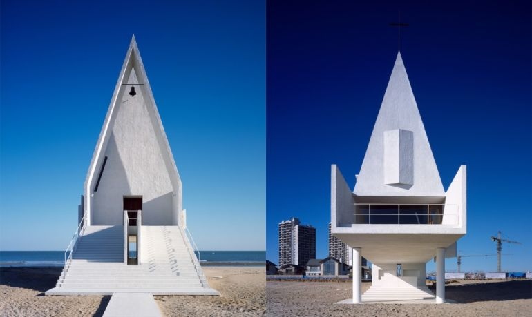 China's Seashore Chapel Looks Like A Floating Ship At High Tide-2