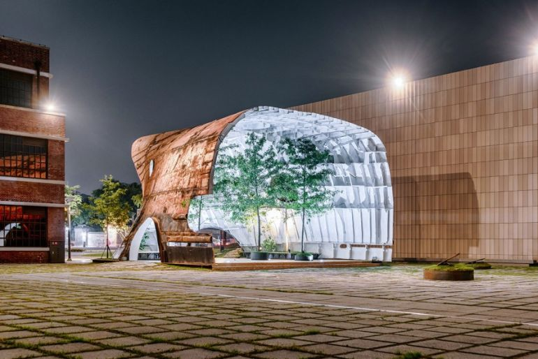 South Korean architects transform defunct, rusty ship into stunning tree-filled pavilion-2