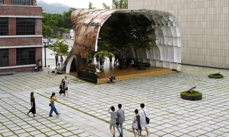 South Korean architects transform defunct, rusty ship into stunning tree-filled pavilion-6
