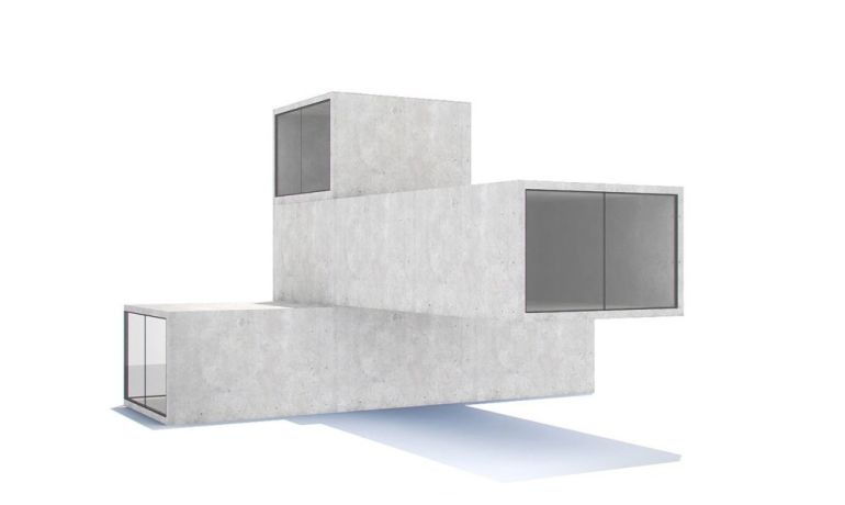 Architects Build Modular House By Stacking Structures Like Tetris Blocks-8