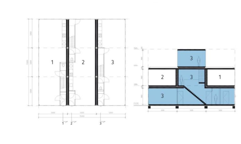 Architects Build Modular House By Stacking Structures Like Tetris Blocks-9