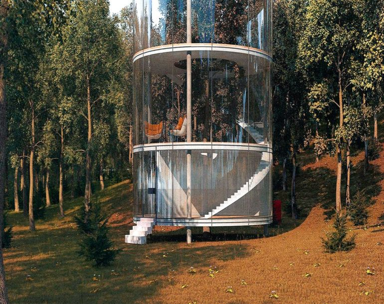 This Amazing Dwelling In Kazakhstan Houses An Actual Tree At Its Center-8