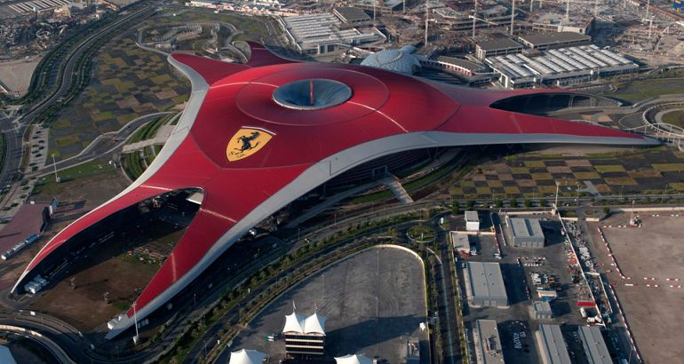 ferrari world abu dhabi aerial view. Cars Review. Best American Auto & Cars Review