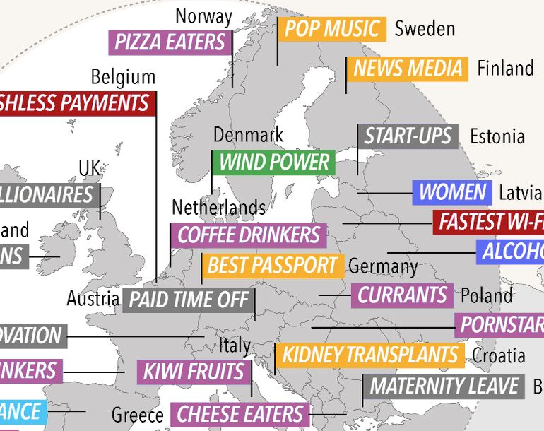 Amazing World Map Shows What Each Of The Countries Is Best At -2