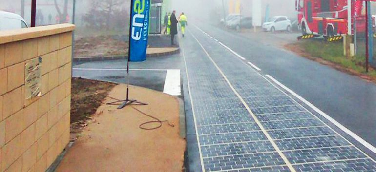 French Government Unveils World's Very First Solar Panel-Fitted Road-1