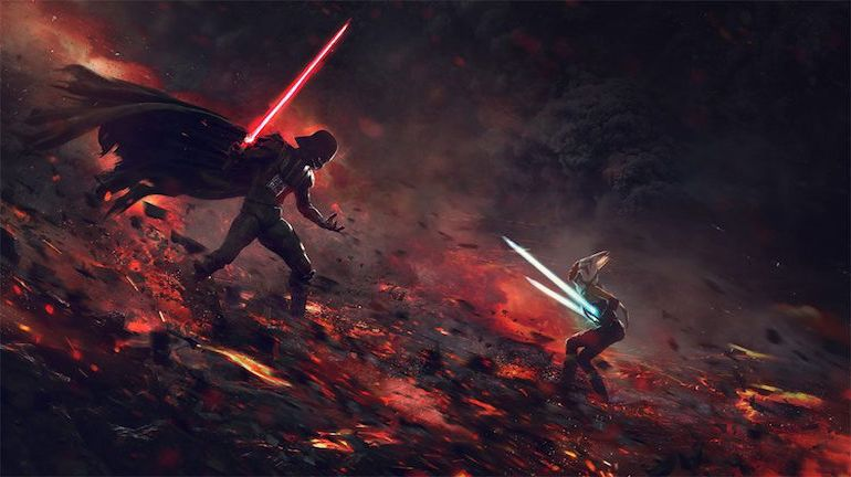 Stunning Artwork Depicts Epic Battle Scenes Of Stromtroopers VS. Aleins-3